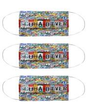 scuba diver plates mas Cloth Face Mask - 3 Pack front