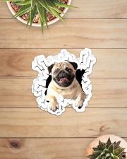 Pug crack sticker Sticker - 6 pack (Horizontal) aos-sticker-6-pack-horizontal-lifestyle-front-07