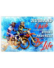 dirt bike riding partners for life 17x11 Poster front