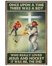 jesus and hockey boy once upon a time poster 11x17 Poster front
