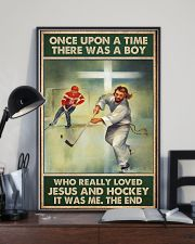 jesus and hockey boy once upon a time poster 11x17 Poster lifestyle-poster-2