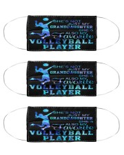volleyball granddaughter favorite player mas Cloth Face Mask - 3 Pack front
