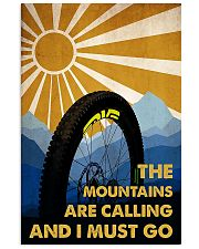 cycling the mountains are calling poster 11x17 Poster front