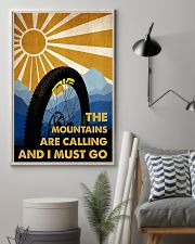 cycling the mountains are calling poster 11x17 Poster lifestyle-poster-1