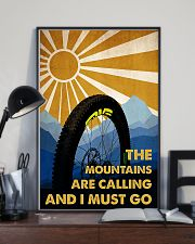 cycling the mountains are calling poster 11x17 Poster lifestyle-poster-2
