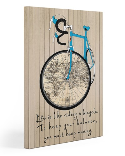 Life Is Like Riding A Bicycle Canvas