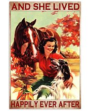 Horse and Dog And she lived pt ttb-pml Vertical Poster tile
