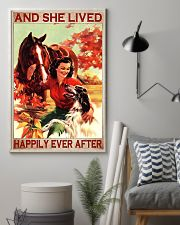 Horse and Dog And she lived pt ttb-pml 16x24 Poster lifestyle-poster-1