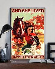 Horse and Dog And she lived pt ttb-pml 16x24 Poster lifestyle-poster-2
