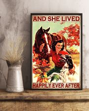 Horse and Dog And she lived pt ttb-pml 16x24 Poster lifestyle-poster-3
