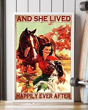 Horse and Dog And she lived pt ttb-pml 16x24 Poster lifestyle-poster-4