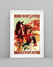Horse and Dog And she lived pt ttb-pml 16x24 Poster lifestyle-poster-5