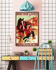 Horse and Dog And she lived pt ttb-pml 16x24 Poster lifestyle-poster-6