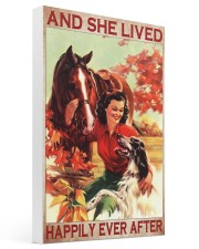 Horse and Dog And she lived pt ttb-pml Gallery Wrapped Canvas Prints tile