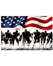 hockey team us flag 17x11 Poster front