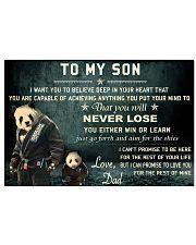 jiu jitsu panda to my son pt lqt cva 17x11 Poster front