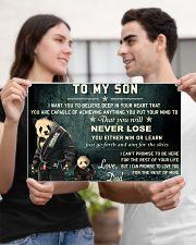 jiu jitsu panda to my son pt lqt cva 17x11 Poster poster-landscape-17x11-lifestyle-20
