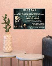 jiu jitsu panda to my son pt lqt cva 17x11 Poster poster-landscape-17x11-lifestyle-21