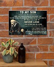 jiu jitsu panda to my son pt lqt cva 17x11 Poster poster-landscape-17x11-lifestyle-23