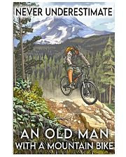 mountain bike old man never underestimate 11x17 Poster front