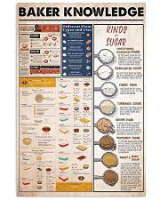 baker knowledge 16x24 Poster front