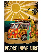 surfing peace love surf 11x17 Poster front