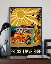 surfing peace love surf 11x17 Poster lifestyle-poster-2