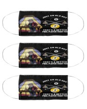billiard just an old guy mas Cloth Face Mask - 3 Pack front