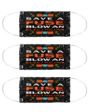 electrician save a fuse mas Cloth Face Mask - 3 Pack front