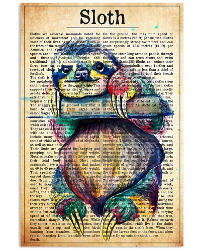 sloth text watercolor