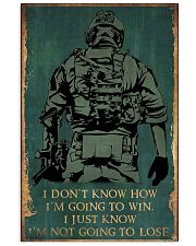 I'M NOT GOING TO LOSE SOLDIER poster 11x17 Poster front