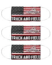 Track and Field us flag mas Cloth Face Mask - 3 Pack front