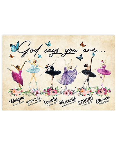 Ballet Unique god say you are poster