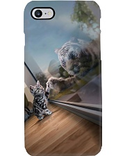 cat tiger mirror pc lqt pml Phone Case i-phone-8-case