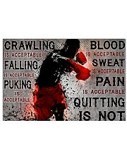 boxing quitting is not pt lqt NTH 24x16 Poster front