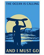 surfing calling poster 11x17 Poster front