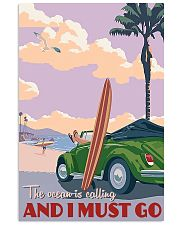 surfing ocean is calling 11x17 Poster front