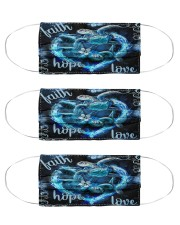 turtle peace hope love heart mas Cloth Face Mask - 3 Pack front