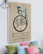 Life Is Like Riding A Bicycle Canvas 20x30 Gallery Wrapped Canvas Prints aos-canvas-pgw-20x30-lifestyle-front-02