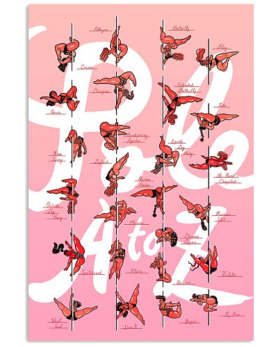 pole dance moves poster a to z