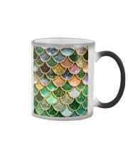 Mermaid Fin green Color Changing Mug tile