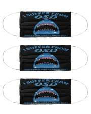 shark COD mas Cloth Face Mask - 3 Pack front