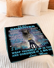 """To My Daughter From Mom Lab Fleece Blanket lqt p Small Fleece Blanket - 30"""" x 40"""" aos-coral-fleece-blanket-30x40-lifestyle-front-01"""