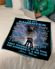 """To My Daughter From Mom Lab Fleece Blanket lqt p Small Fleece Blanket - 30"""" x 40"""" aos-coral-fleece-blanket-30x40-lifestyle-front-07"""