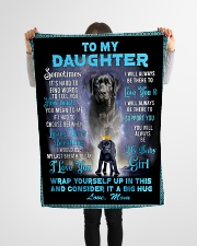 """To My Daughter From Mom Lab Fleece Blanket lqt p Small Fleece Blanket - 30"""" x 40"""" aos-coral-fleece-blanket-30x40-lifestyle-front-14"""