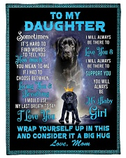 """To My Daughter From Mom Lab Fleece Blanket lqt p Small Fleece Blanket - 30"""" x 40"""" front"""