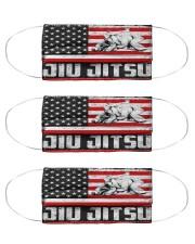 jiu jitsu us flag mas Cloth Face Mask - 3 Pack front