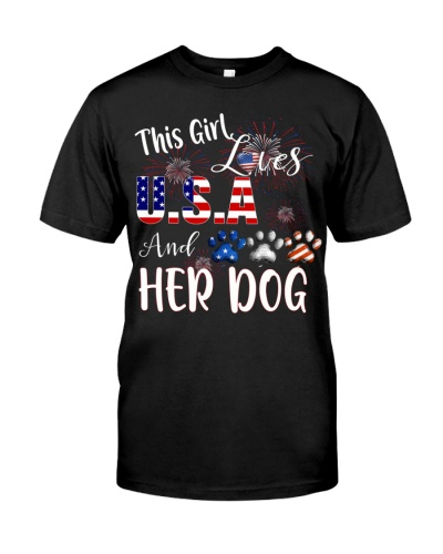girl dog usa love