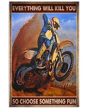 dirt track motorcycle racing choose pt phq ngt 11x17 Poster front