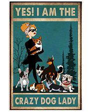 dog crazy dog lady poster 24x36 Poster front